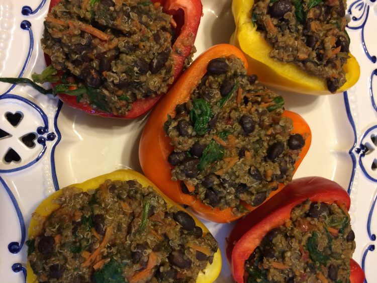 Easy Recipe: Bean & Quinoa Stuffed Peppers