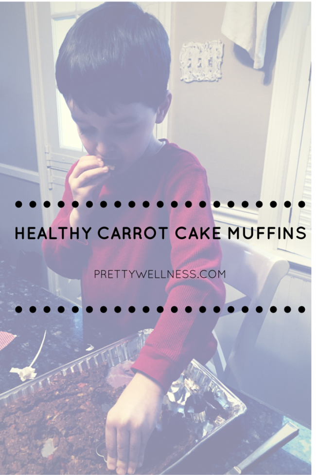 Kid-approved healthy carrot cake muffins