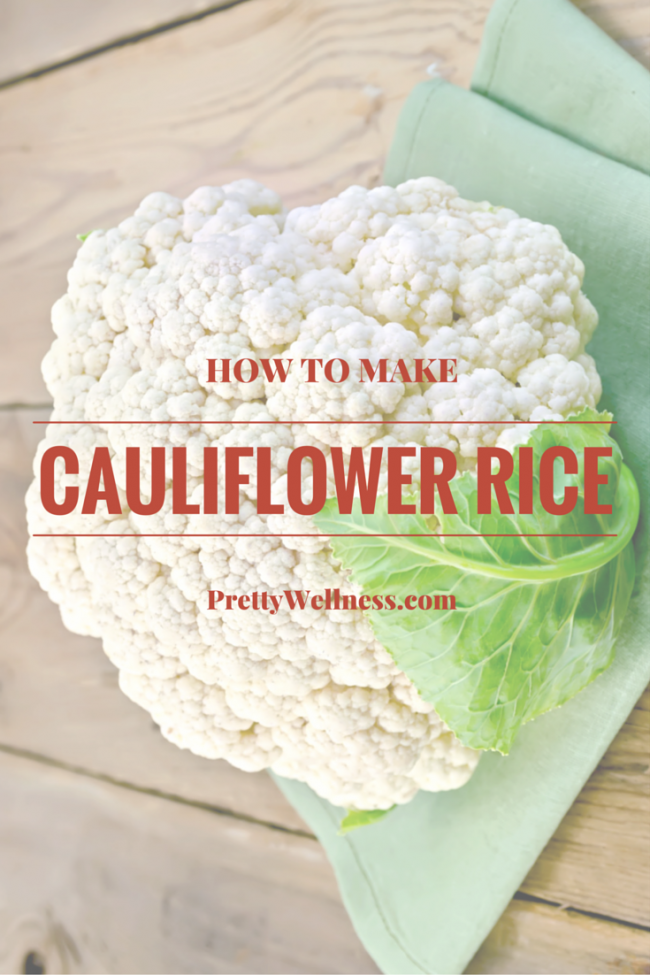 Healthy Tip: How to Make Cauliflower Rice