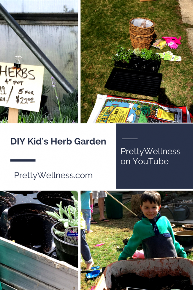 For Earth Day a DIY Kid's Herb Garden
