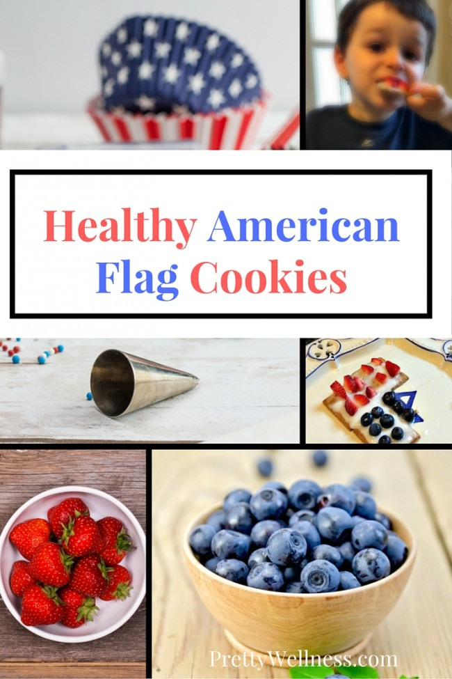 Healthy American Flag Cookies
