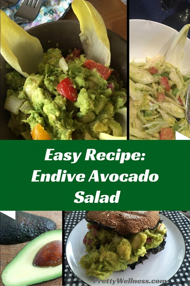 PrettyWellness.com Easy Recipe: Endive Avocado Salad